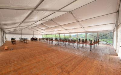Unsere Zelte im Einsatz «AKI Zürich»